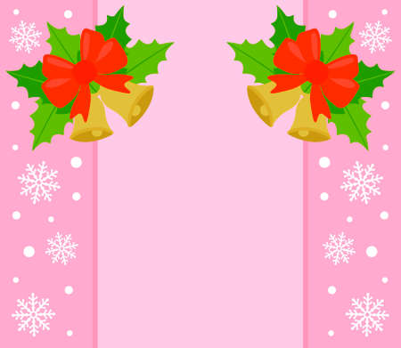 New Year and Christmas background card, pink