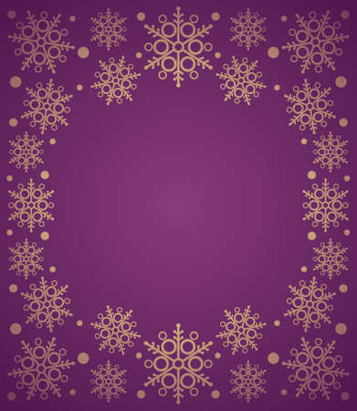 New Year background card with snowflake ,purple