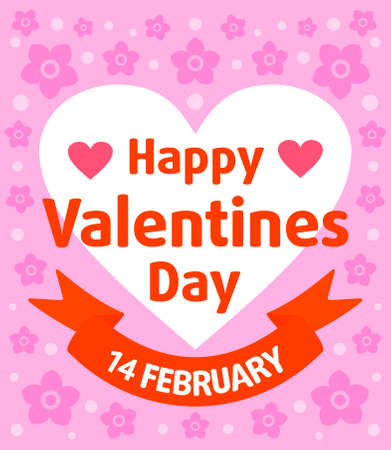 Valentines day card ,purple Illustration