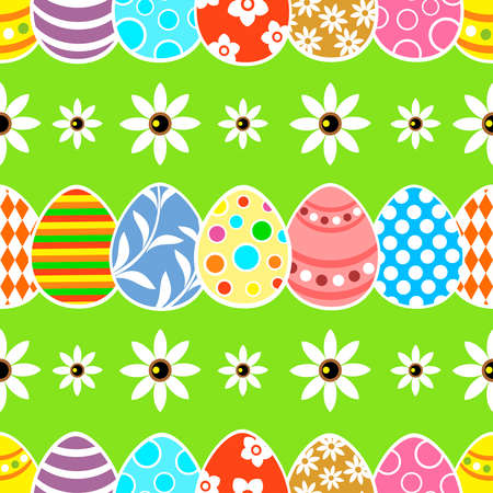 Seamless Easter  background card green