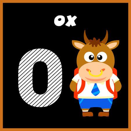 The English alphabet letter O, Ox