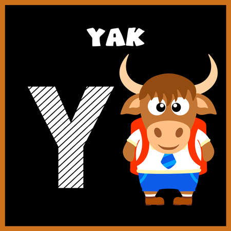 The English alphabet letter Y, Yak Vector