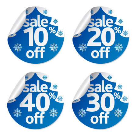 Christmas sale stickers set ,vector