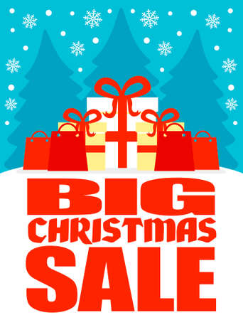 retailer: Big Christmas sale poster,vector