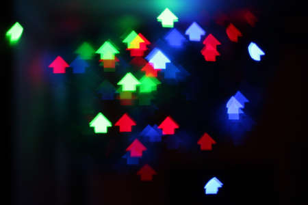 Abstract Colorful Bokeh Background , with house Stock Photo