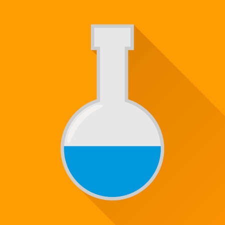 Laboratory flask flat icon,modern vector illustration Vector