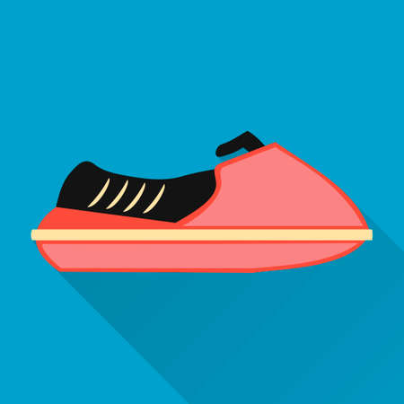 Flat design style modern vector illustration,jetski