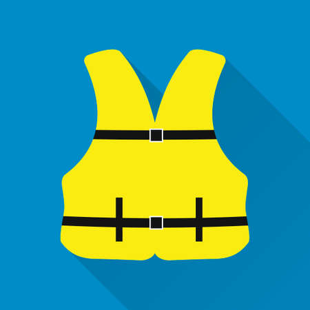 life jacket: Life jacket . Flat design style modern vector illustration
