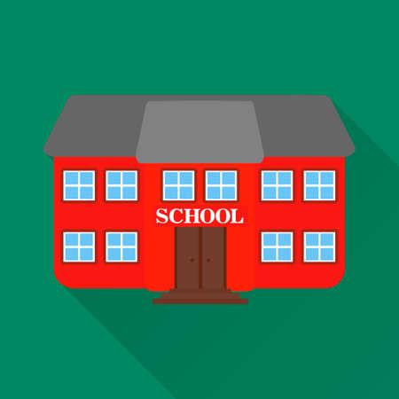 Flat design style modern vector illustration.School building