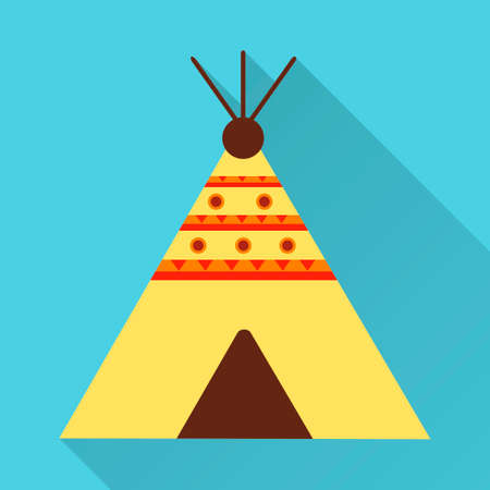 wigwam: Wigwam Icon. Flat design style modern vector illustration Illustration