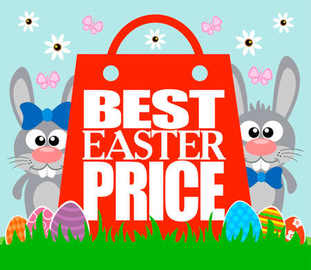 Best Easter Price card , funny rabbits
