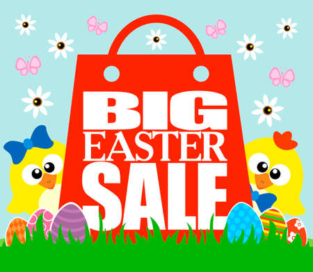Big Easter Sale card, funny  chickens