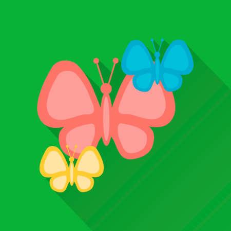 Flat design style modern vector illustration,butterflies Illustration