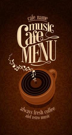 Vintage  Cafe Menu Design card
