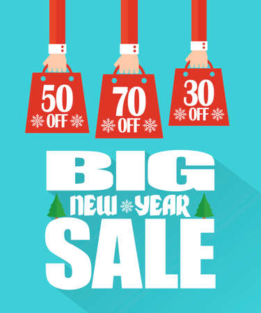 Big New Year Sale concept modern flat design