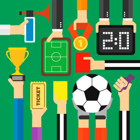 football trophy: Modern soccer flat design.Vector illustration