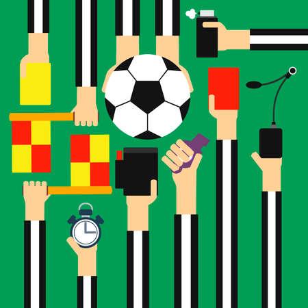 arbitro: Árbitro del fútbol plana de diseño.