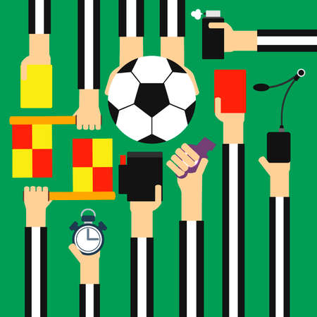 admonition: Soccer referee design flat.