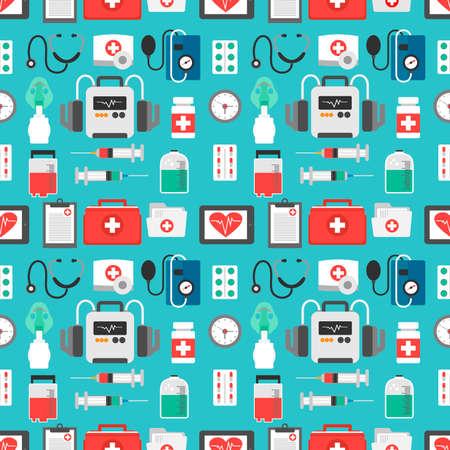 Medical seamless design flat .Vector illustration