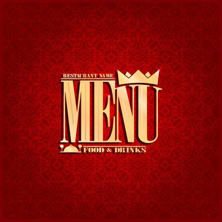 Food and drink Restaurant , red vintage menu .Vector illustration