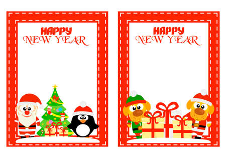 Merry Christmas illustration template design.