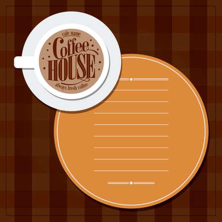 Coffee house menu always fresh coffee.Vector illustration