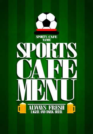 Sports cafe menu.Vector illustration