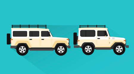 car design flat style.Vector illustration
