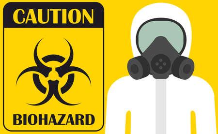 Caution biohazard. Vector illustration