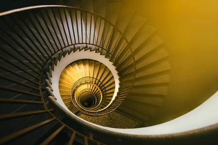 Spiral staircase, architecture, abstract detail