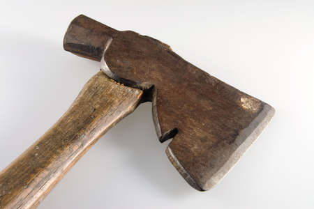 Old Vintage Hatchet Contruction for Building and Cutting