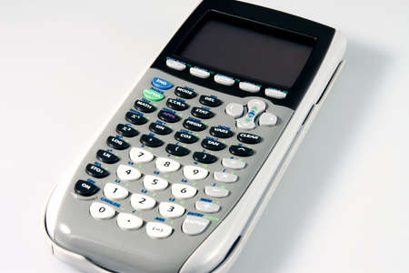 figuring: Calculator for Figuring yoour Statistics Stock Photo