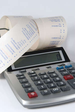 Finance mess of figures on Calculator tape