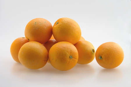 Pile of freash oranges