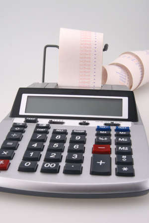 Calculator Figures in the Red on the Tape