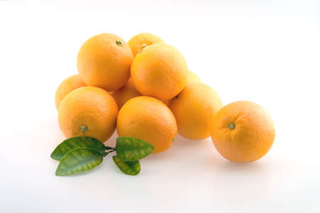 Fresh Oranges stacked in a pile ready for eating Stock Photo - 2549159