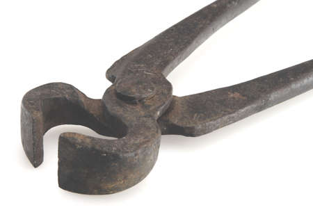 Old vintage steel pincer pliers long handle Stock Photo - 2562995