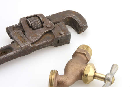 hose bib and pipe wrench replace leaky faucet