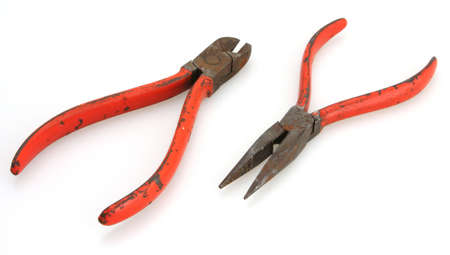 dikes: 1950s or 60s Red Handle Cutters and Needle Nose Pliers