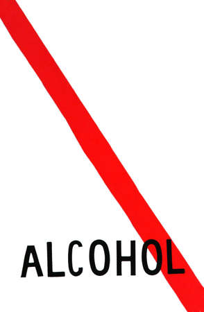 Sign no alcohol red line meaning no