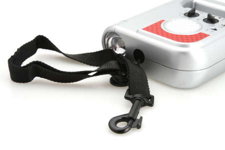 flexi: Retractable dog leash with radio and flashlight