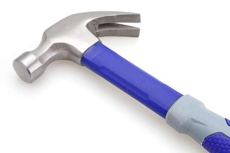 apalancamiento: Blue manejar un martillo de color gris y construcci�n de herramientas