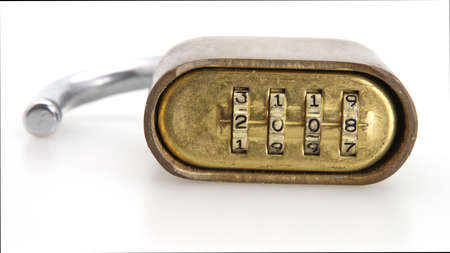 secure: Numbers on padlock for opening secure lock