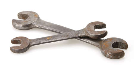 standard steel: old vintage open end standard steel wrenches