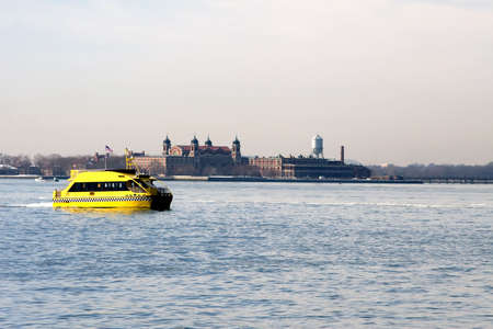 New York Harbor Statue of Liberty and Ellis Island