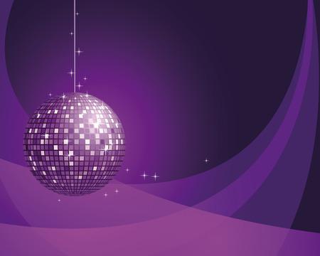 Fondo abstracto con bola de disco.