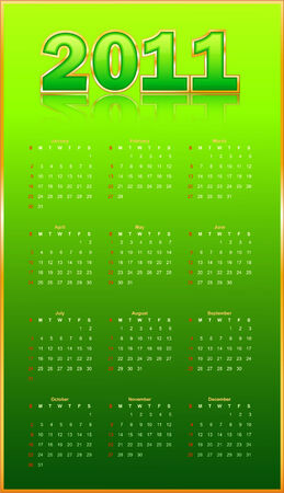 last day: Calendar on a green background.   illustration.