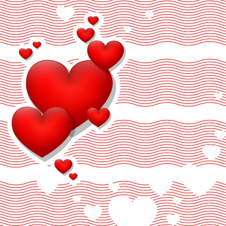 Abstract background with hearts.  illustration. Vector