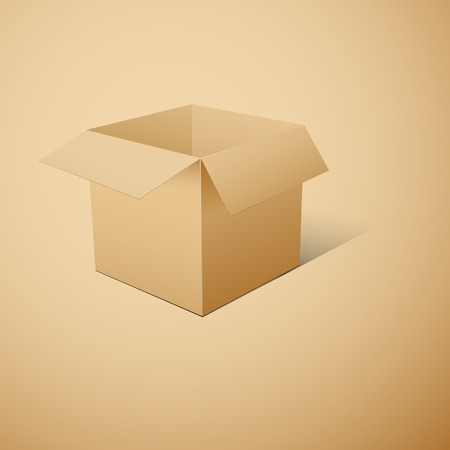 specular: Cube-shaped Package Box.   illustration