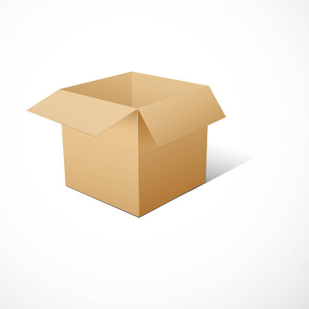 Cube-shaped Package Box.  illustration Vector
